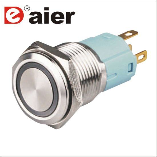 China Explosion Proof 5 Pin Metal Push Button Switch with