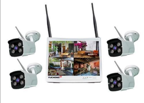 4CH Wireless HD 1080P NVR Kit IR 2.0MP IP Camera CCTV System