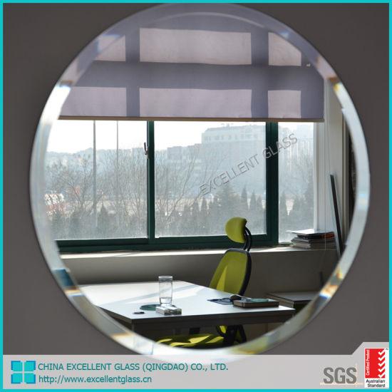 Aluminium Mirror / Float Mirror/Unframed Mirror / Round Mirror / Bathroom Mirror /Edge Polished Mirror Factory Supply