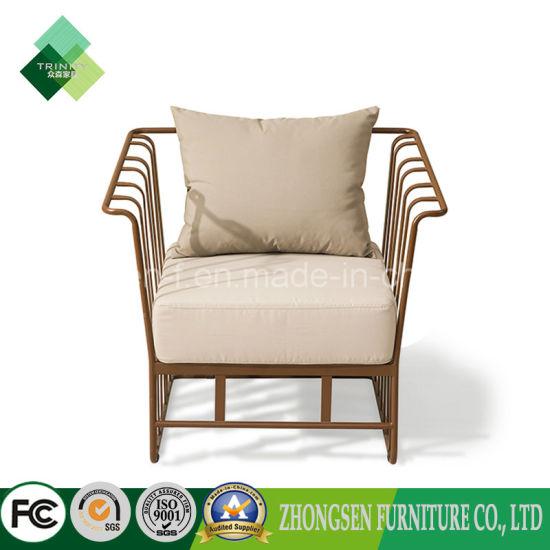 China High Quality Upholstery Sofa Metal Armchair Used On Living