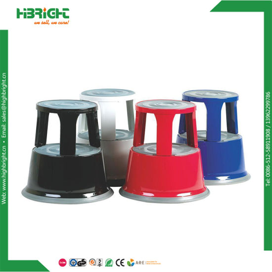 Remarkable China Rolling Round Cheap Plastic Library Kick One Step Ncnpc Chair Design For Home Ncnpcorg