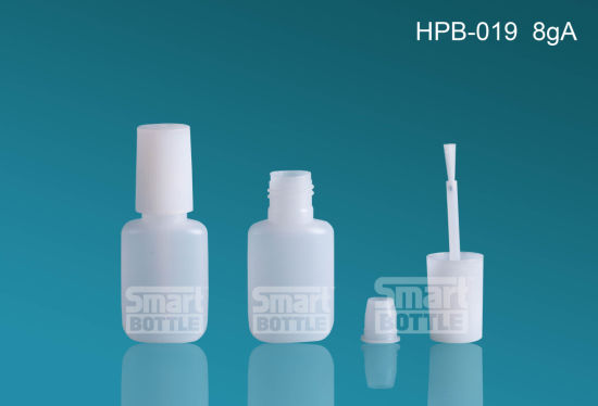 Hopson 8g High Quality HDPE Plastic Bottle with Brush