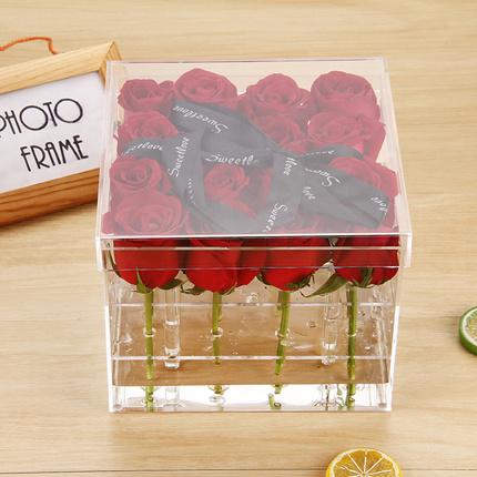 Transparent Good Quality Customized Made Acrylic Rose Box