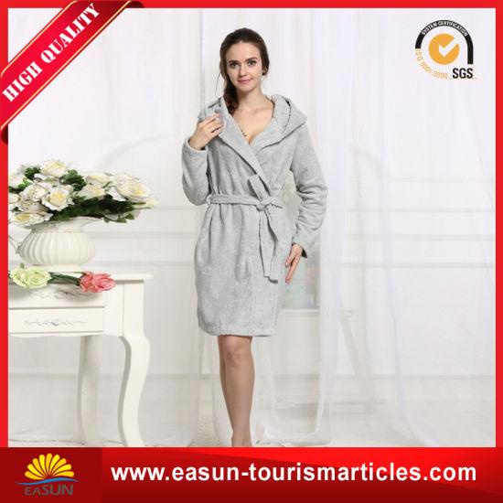 China Custom Wholesale Adults Hotel Waffle Cute Hooded Robe - China ... 859ef6c34