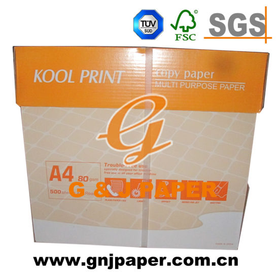 Multi-Purpose Raw Wood Pulp A4 Copy Paper in 80g pictures & photos