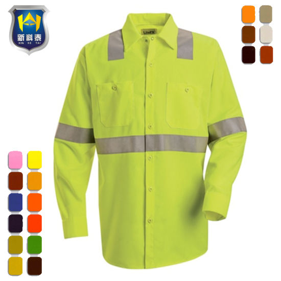 New Design Bright Colored Mens Shirts Work Uniform Shirts pictures & photos