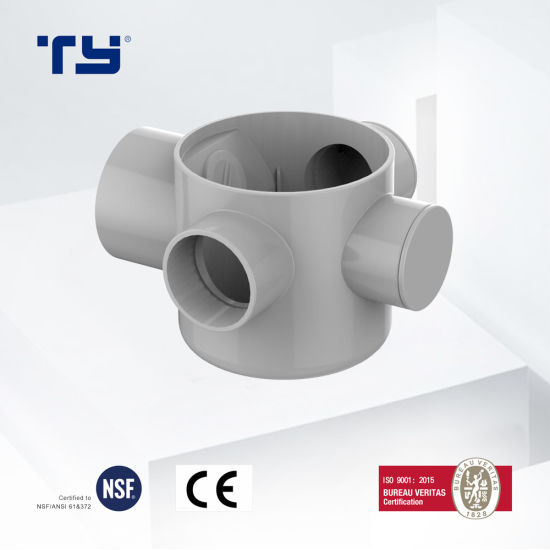PVC Plastic Drainage Waste Pipe Tube Fittings Floor Drain S GB/T 5836.1 Tianyan OEM