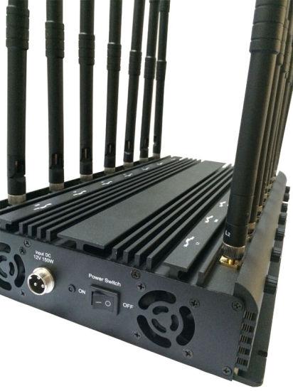 14 Antennas Powerful 3G 4G Phone Blocker &WiFi UHF VHF GPS Lojack All Bands Signal Jammer
