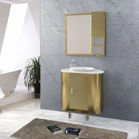 China Modern Mirrored Vanity Stainless, Mirrored Bathroom Floor Cabinet