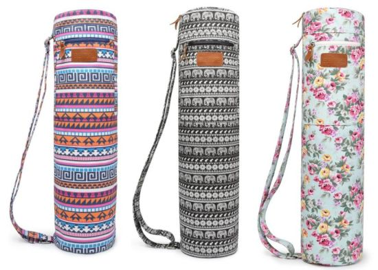 c931ac429134 Full-Zip Exercise Mat Carry Yoga Sling Bag with Multi-Functional Storage  Pockets