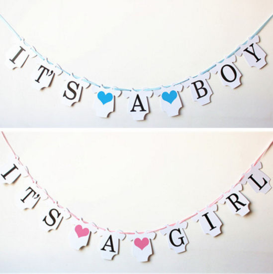 china it s a boy it s a girl crafts paper banner baby shower party