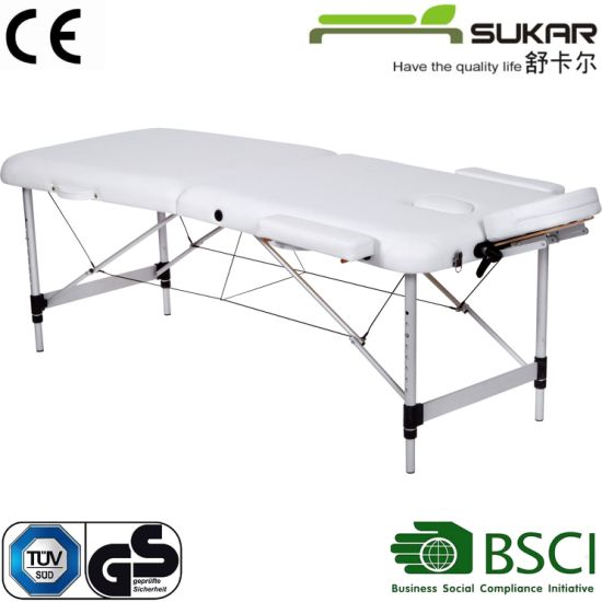 Comfortable Leather SPA Folding Massage Table / Bed with Ce
