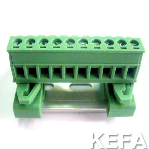 5.08mm Pitch DIN Rail Pluggable Terminal Block with UL VDE Certificate