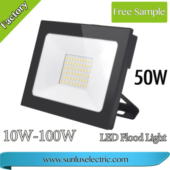 LED Flood Light Ce Approved Outdoor Lighting LED Floodlight 10W 20W 30W 50W 100W IP65 Waterproofing for Playground