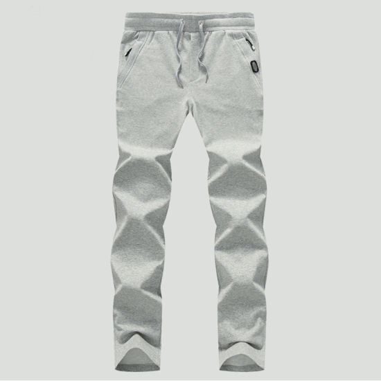 Fashion Sport Wear Men Leisure Pants Straight Leg Trousers Knitting Pants