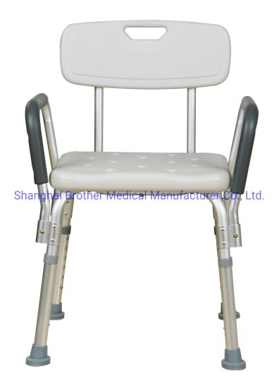 New Model Aluminium Shower Chair Bath Bench Demountable Assembling with Drain Hole for Disabled Person