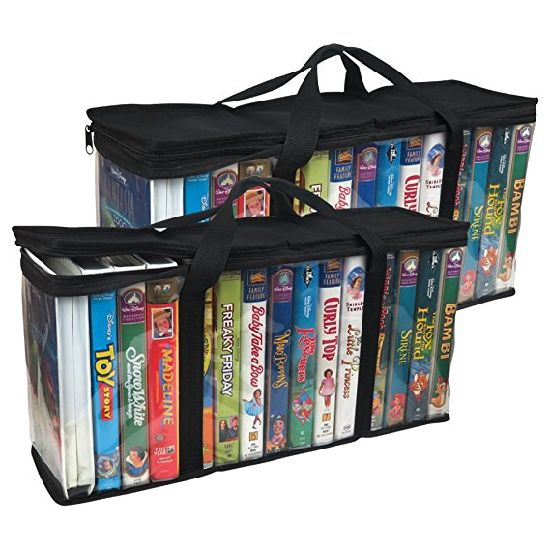 Books Dvd Storage Bags Hold Organizers