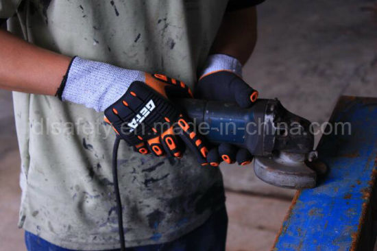 Aramid Fiber Knitted Specialty Hand Protection Anti Vibration Anti-Impact Safety Glove