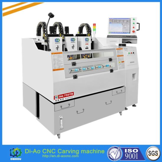 China 3 Heads CNC Cutting Machine for Phone Glass, Phone Screen, Metal, Screen Guard and Tempered Glass Protector