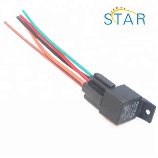 China 12V 40A 40 AMP 5 Pin 5 Wire Automotive Relay Socket ... on