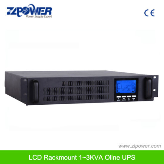 China 1-10kVA High Frequency Rack Mount Online UPS Power Supply Pure