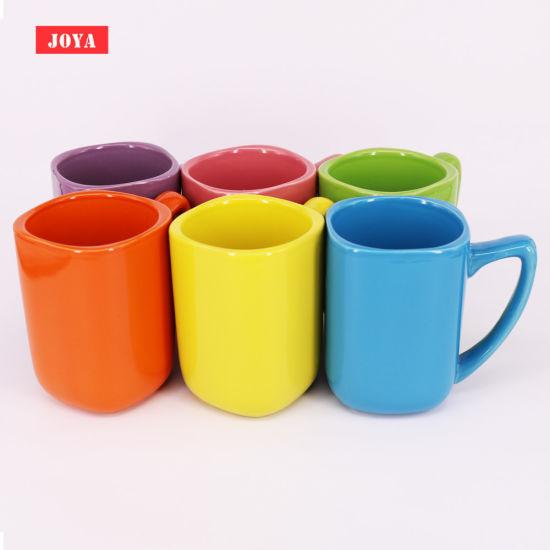 10oz Square Shape Ceramic Mug