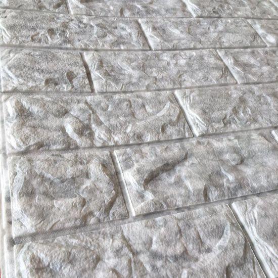 Popular 3D Wall Brick Tiles Marble Texture Wallpaper Sticker