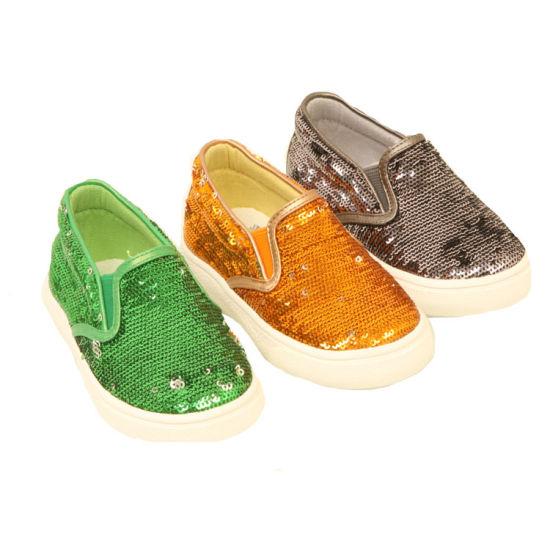Italian Designer Branded Paillette Flat Children Casual Shoes