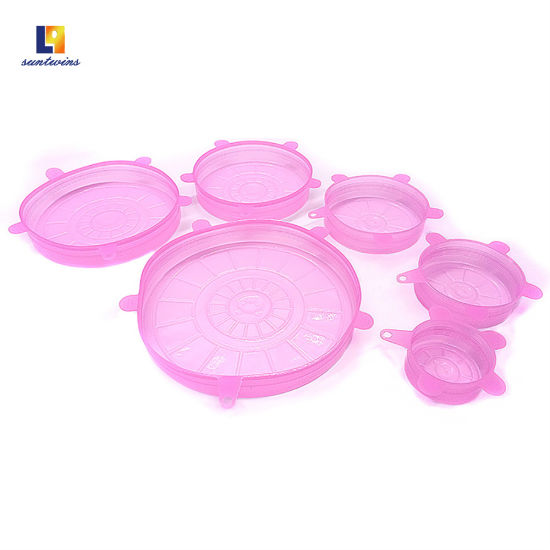 Microwave Household Plastic Containers Silicone Fresh Cover pictures & photos
