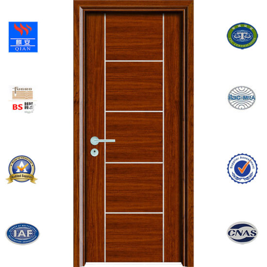 China Fire Heat Insulated Wooden Door Modern Fire Rated Wood Door