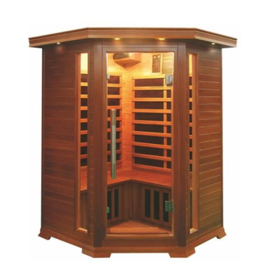 Deluxe Sauna Canada Red Cedar Wood Carbon Heater Infrared Sauna Room for 2 People Qd-D2c