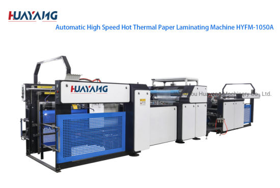 Hot Thermal Automatic High Speed Paper Laminating Machine Hyfm-105b