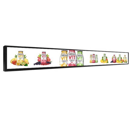24 Inch LCD Shelf Screen Remote Control Digital Signage Shelf Edge Stretch Bar Screen