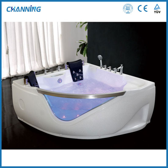 Channing Indoor Double Size Corner Hot Tub SPA Whirlpool Bath Jacuzzi with Glass Window (QT-219)