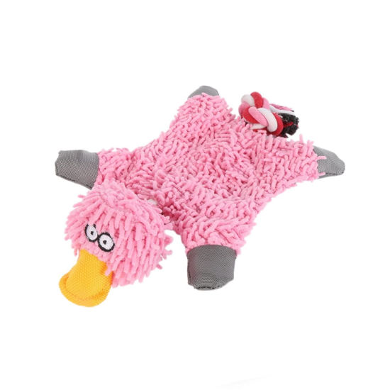 Mop Plush Soft Duck Animal Custom Pet Toy for Dog