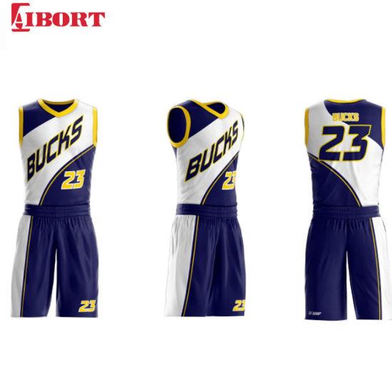 Aibort 2020 Cheap Custom Sublimated Reversible Best Basketball Jersey Design (J-BSK007 (2))