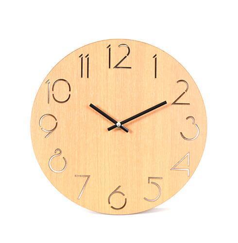 Original Wooden Brown Creative Silent Wall Clock