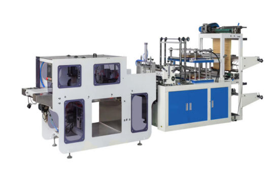 Automatic Disposable Hand Cover Double Plyer PE CPE Plastic Glove Making Machine