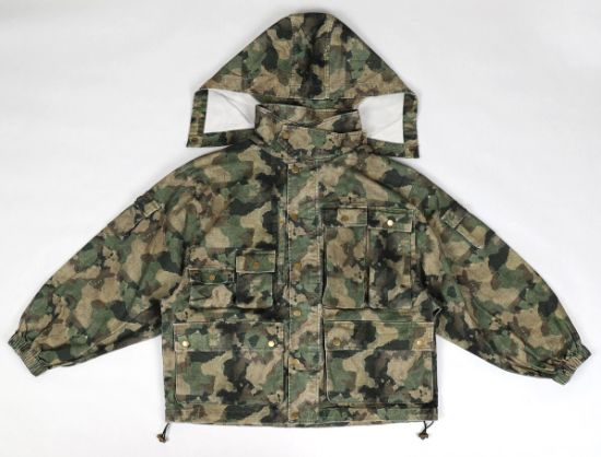 Allover Camo Print Vintage Washed Men Winter Casual Jackets
