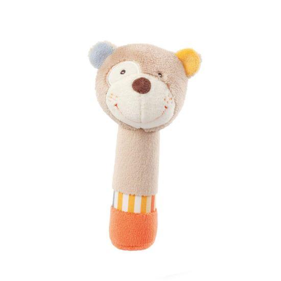 Hand Rattle Sticks Cartoon Animal Baby Soft Plush Stuffed Toy