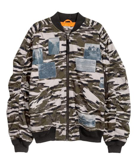 Wholesale Polyester Fabric Camouflage Print Mens Bomber Jacket Military Bomber Jacket for Man
