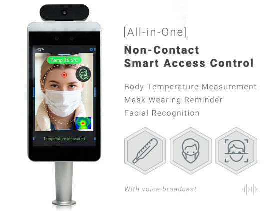 Face Recognition Access Control System Door Facial Recognition Temperature Measurement with Infrared Sensor