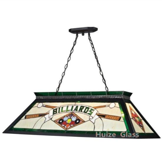 Custom Tiffany Billiard Pool Table Light for Game Room