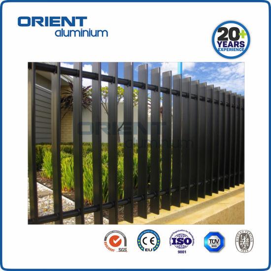 Decorative Security Aluminum Modern Design in White Garden Aluminum Fences
