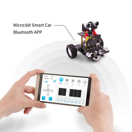 New Microbit Smart Car Robot Kit Support JavaScript//Python Graphical Program