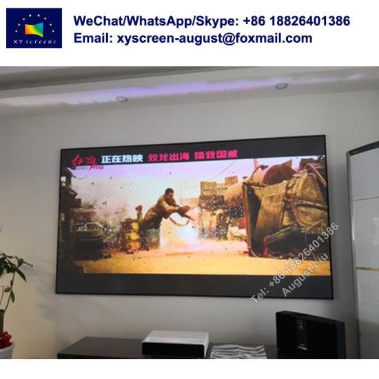 4K Zero Edge Ust Fixed Frame Projector Screen Thin Bezel Xiaomi Laser Wemax  One