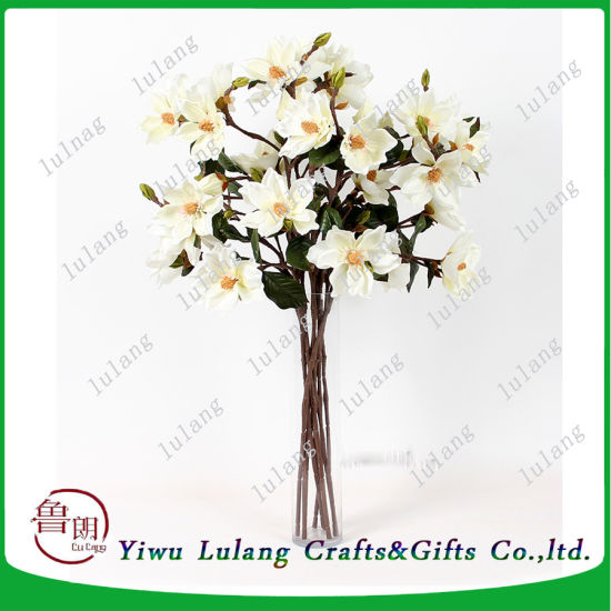 China table wedding decoration artificial flowers 6 heads magnolia table wedding decoration artificial flowers 6 heads magnolia silk flowers mightylinksfo