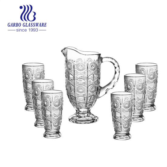 cced55c01a6 China Manufacture 7PCS Glass Water Jug Set with Tumbler (GB12046XTY)  pictures   photos
