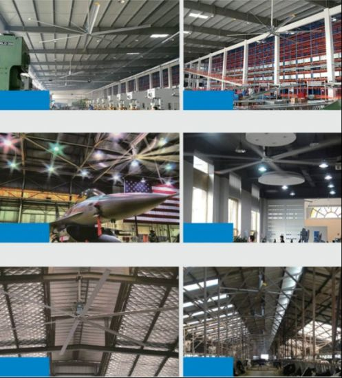 China Big Blades Industrial Warehouse Ventilation Ceiling