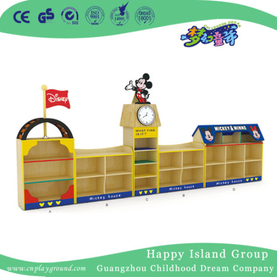 Low Price Mickey Shaped Toy Storage Cabinet for Preschool (HJ-6701)